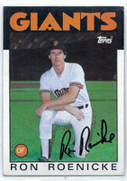Ron Roenicke AUTOGRAPH 1986 Topps #63 Giants   [SKU:RoenR7500_T86BBrs]