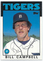 Bill Campbell AUTOGRAPH 1986 Topps Traded #17T Tigers 