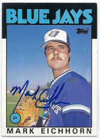 Mark Eichhorn AUTOGRAPH 1986 Topps Traded #34T Blue Jays 