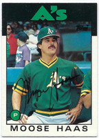 Moose Haas AUTOGRAPH 1986 Topps Traded #44T Athletics   [SKU:HaasM6441_T86BBTRrs]