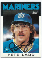 Pete Ladd AUTOGRAPH 1986 Topps Traded #58T Mariners   [SKU:LaddP6731_T86BBTRrs]