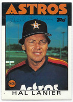 Hal Lanier AUTOGRAPH 1986 Topps Traded #60T Astros   [SKU:LaniH1648_T86BBTRrs]