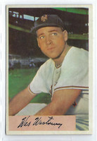 1954 Bowman Baseball 25 Wes Westrum 1000 FA  [SKU:Y54_BW54BB_025a_5exprs]  New York Giants Excellent to Excellent Plus