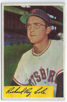 1954 Bowman Baseball 27 Dick Cole  [SKU:Y54_BW54BB_027a_4vgers]  Pittsburgh Pirates Very Good to Excellent