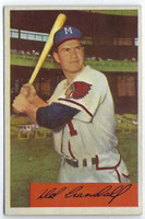 1954 Bowman Baseball 32 Del Crandall  [SKU:Y54_BW54BB_032a_4vgers]  Milwaukee Braves Very Good to Excellent