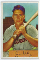 1954 Bowman Baseball 55 Jim Delsing  [SKU:Y54_BW54BB_055a_6exmrs]  Detroit Tigers Excellent to Mint