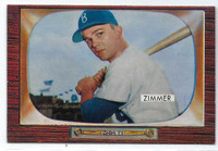 1955 Bowman Baseball 65 Don Zimmer  [SKU:Y55_BW55BB_065a_4vgers]  Brooklyn Dodgers Very Good to Excellent
