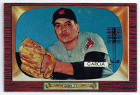 1955 Bowman Baseball 128 Mike Garcia  [SKU:Y55_BW55BB_128a_5exprs]  Cleveland Indians Excellent to Excellent Plus