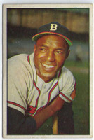 1953 Bowman Color Baseball 3 Sam Jethroe  [SKU:Y53_BW53BB_003a_4vgers]  Milwaukee Braves Very Good to Excellent