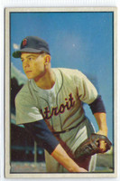 1953 Bowman Color Baseball 4 Art Houtteman  [SKU:Y53_BW53BB_004a_6exmrs]  Detroit Tigers Excellent to Mint