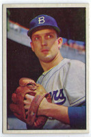 1953 Bowman Color Baseball 12 Carl Erskine