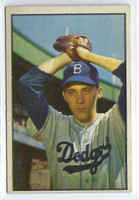 1953 Bowman Color Baseball 14 Billy Loes  [SKU:Y53_BW53BB_014a_2gvgrs]  Brooklyn Dodgers Good to Very Good