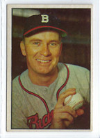 1953 Bowman Color Baseball 37 Jim Wilson