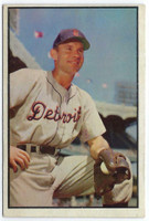 1953 Bowman Color Baseball 91 Steve Souchock  [SKU:Y53_BW53BB_091a_1fprs]  Detroit Tigers Fair to Poor