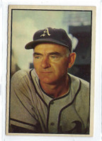 1953 Bowman Color Baseball 95 Wally Moses