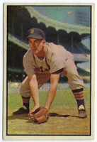 1953 Bowman Color Baseball 134 Johnny Pesky High Number  [SKU:Y53_BW53BB_134a_4vgers]  Detroit Tigers Very Good to Excellent