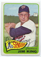 Jim King AUTOGRAPH d.15 1965 Topps #38 Senators CARD IS SHARP EX/MT