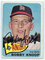 Bobby Knoop AUTOGRAPH 1965 Topps #26 Angels CARD IS CLEAN EX
