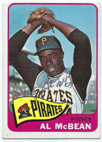 Al McBean AUTOGRAPH 1965 Topps #25 Pirates CARD IS VG; OC