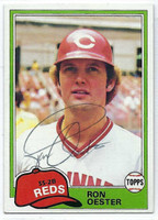 Ron Oester AUTOGRAPH 1981 Topps #21 Reds   [SKU:OestR6275_T81BBrs]
