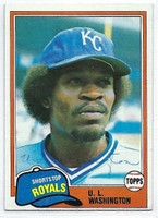 UL Washington AUTOGRAPH 1981 Topps #26 Royals 