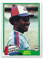 Jerry White AUTOGRAPH 1981 Topps #42 Expos   [SKU:WhitJ9367_T81BBrs]