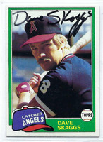 Dave Skaggs AUTOGRAPH 1981 Topps #48 Angels   [SKU:SkagD9406_T81BBrs]