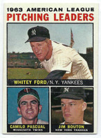1964 Topps Baseball 4 AL Pitching Leaders  [SKU:Y64_T64BB_004a_5exrs]  Excellent