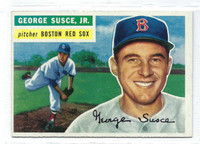 1956 Topps Baseball 93 George Susce  [SKU:Y56_T56BB_093ag6exmrs]  Boston Red Sox Excellent to Mint Grey Back
