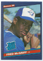 1986 Donruss Baseball Fred McGriff ROOKIE Toronto Blue Jays Near-Mint to Mint