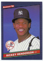 1986 Donruss Baseball Rickey Henderson New York Yankees Near-Mint to Mint