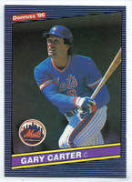 1986 Donruss Baseball Gary Carter New York Mets Near-Mint to Mint