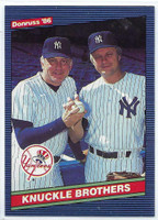 1986 Donruss Baseball Knuckle Brothers New York Yankees Near-Mint to Mint