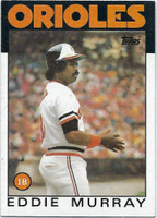 1986 Topps Baseball 30 Eddie Murray Baltimore Orioles Near-Mint to Mint