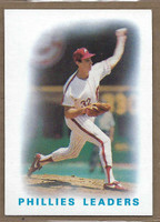 1986 Topps Baseball 246 Phillies Leaders Near-Mint to Mint