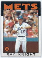 1986 Topps Baseball 27 Ray Knight New York Mets Near-Mint to Mint