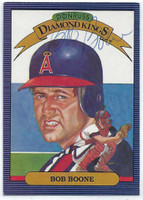 Bob Boone AUTOGRAPH 1986 Donruss Diamond King #17 Angels 