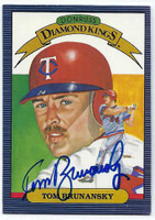 Tom Brunansky AUTOGRAPH 1986 Donruss Diamond King #24 Twins 