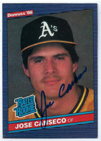 Jose Canseco AUTOGRAPH 1986 Donruss #39 Athletics 