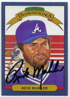Rick Mahler AUTOGRAPH d.05 1986 Donruss Diamond King #21 Braves 