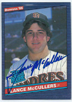 Lance McCullers AUTOGRAPH 1986 Donruss #41 Padres   [SKU:McCuL9278_DON86BBrs]