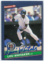 Lou Whitaker AUTOGRAPH 1986 Donruss #49 Tigers 