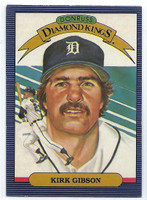 1986 Donruss Baseball Kirk Gibson Diamond King Detroit Tigers Near-Mint to Mint