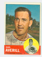 Earl Averill AUTOGRAPH d.15 1963 Topps #139 Phillies 
