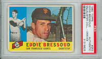 Eddie Bressoud AUTOGRAPH 1960 Topps #253 Giants PSA/DNA 
