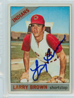 Larry Brown AUTOGRAPH 1966 Topps #16 Indians 