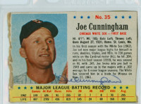 Joe Cunningham AUTOGRAPH 1963 Post White Sox  Lot 