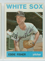 Eddie Fisher AUTOGRAPH 1964 Topps #66 White Sox   [SKU:FishE1396_T64BBjl]