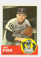 Terry Fox AUTOGRAPH 1963 Topps #44 Tigers 