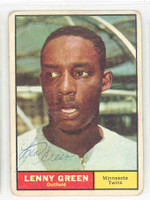 Lenny Green AUTOGRAPH 1961 Topps #4 Twins 
